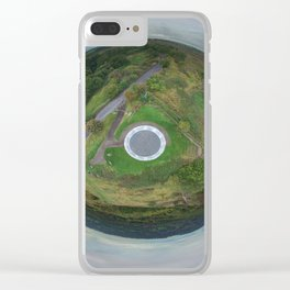 Stardisc tiny planet Clear iPhone Case