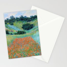 Claude Monet - Poppy Field in a Hollow near Giverny - Digital Remastered Edition Stationery Cards
