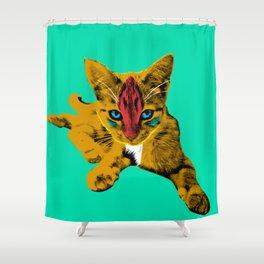 Loli Garfield Green Shower Curtain