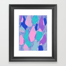 Soft Drops Framed Art Print
