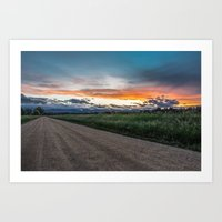 To The Gravel We Travel Art Print