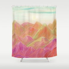 Lines in the mountains XVIII Shower Curtain