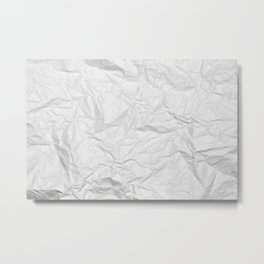 Wrinkled paper texture Metal Print