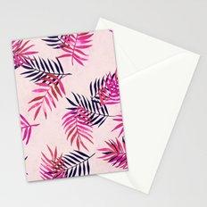 Pink Palm Pattern Stationery Cards