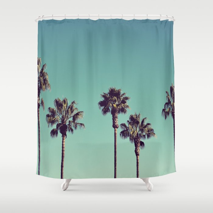 California Palm Trees Shower Curtain By Lawsonimages Society6