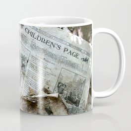 Old Newspaper Left to the Elements...Children's Page Coffee Mug