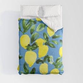 Blue Lemons Comforters