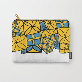 blue and yellow tapa Carry-All Pouch