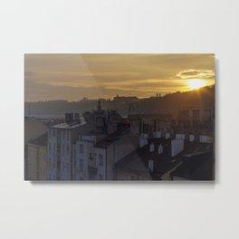 Sunrise Praha Metal Print