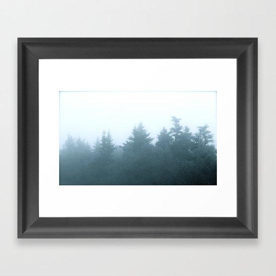 As The Mists Rise Framed Art Print