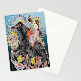 go with crow Stationery Cards