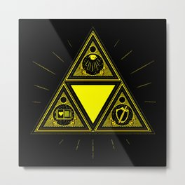 Light Of Triangle Metal Print