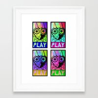 majora Framed Art Prints featuring Majora Commands You by Shy Guy Street Art
