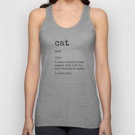 Cat Definition Unisex Tank Top