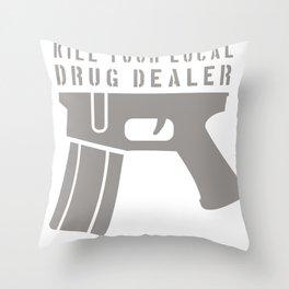 Strage Edge GUN Throw Pillow