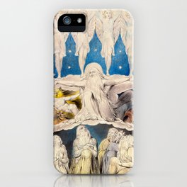 William Blake - When the Morning Stars Sang Together, 1804 iPhone Case
