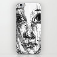 leah flores iPhone & iPod Skins featuring LEAH by EDEN
