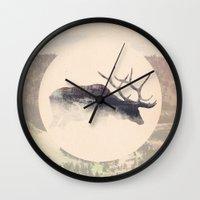 elk Wall Clocks featuring Elk by hipepper