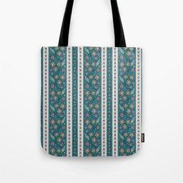 Floral on Teal Tote Bag