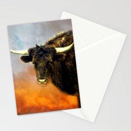 Long Horn Cow Farm Animal Farmhouse Art Modern Country Decor A387 Stationery Cards