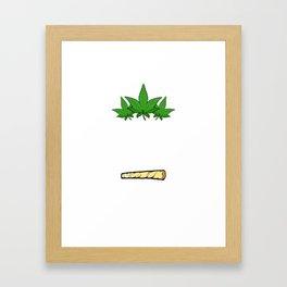 "A Nice Cannabis Tee For High Persons ""I'd Hit That"" T-shirt Design Marijuana Medication Cigarette  Framed Art Print"