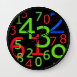 RGB Numbers Wall Clock