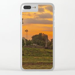 1296 - June Sunset (texture edit) Clear iPhone Case