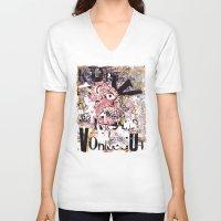 vonnegut V-neck T-shirts featuring Kurt Vonnegut Portrait by Karl Frey