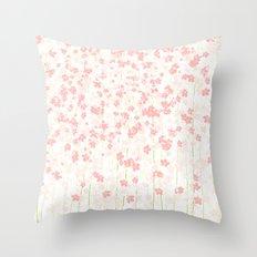 Pink Shidare Zakura Throw Pillow