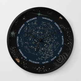 Come with me to see the stars Wall Clock
