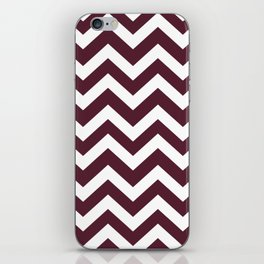 Light chocolate cosmos - purple color -  Zigzag Chevron Pattern iPhone Skin