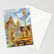 with a cat's company Stationery Cards