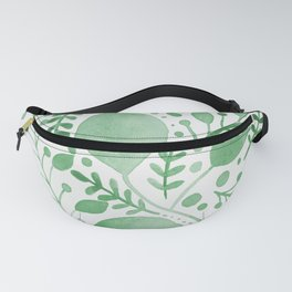 Branches and leaves - green Fanny Pack