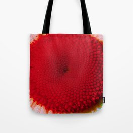 Red Vineyard Daisy Tote Bag