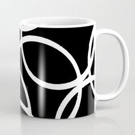 Interlocking White Circles Artistic Design Coffee Mug