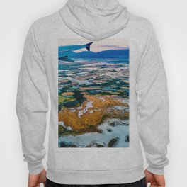 Airplane Window View | Salt Lake City Psychedelic Natural Vibrant Colorful Landscape Hoody
