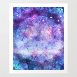 Purple Galaxy - Psychedelic Summer Series by iDeal Art Print