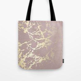 Kintsugi Ceramic Gold on Clay Pink Tote Bag