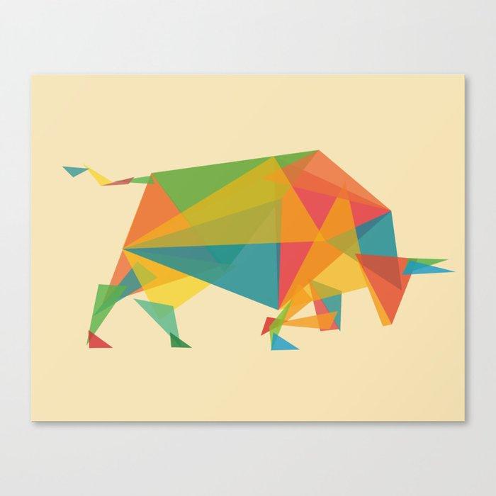 Fractal Geometric Bull Canvas Print
