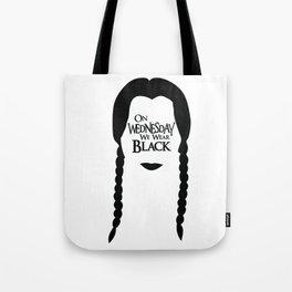 On Wednesday We Wear Black Tote Bag