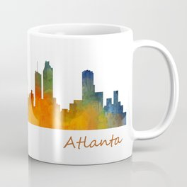 Atlanta City Skyline watercolor Hq v1 Coffee Mug