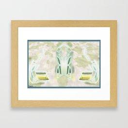 Frakblot Lotus Framed Art Print