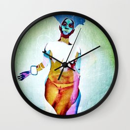 """""""Don't Listen to crappy music"""" by Nacho dung. Wall Clock"""