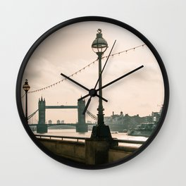 London in the morning Wall Clock