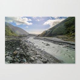 Beyond the Glacier Valley Canvas Print
