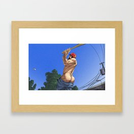Switch Hitter Framed Art Print