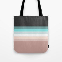 Charcoal, blue and pink pastel blend Tote Bag