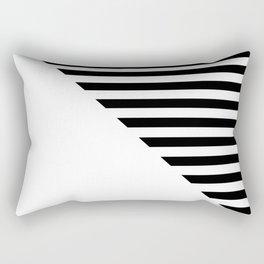 MID-CENTURY MODERN (BLACK-WHITE) Rectangular Pillow