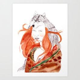 Wolf Girl Art Print