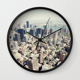Manhattan from up high Wall Clock